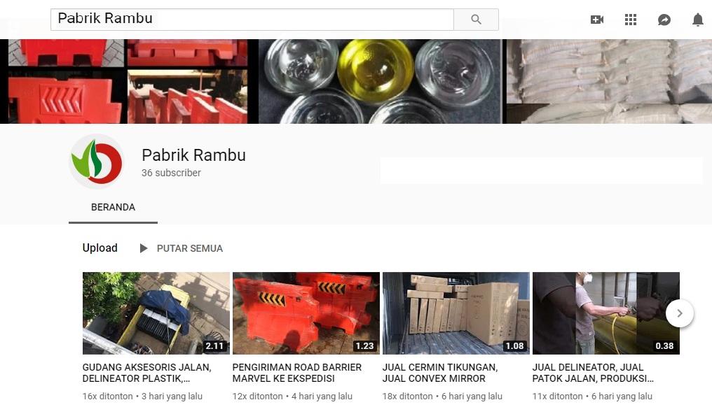 Youtube channel pabrik rambu